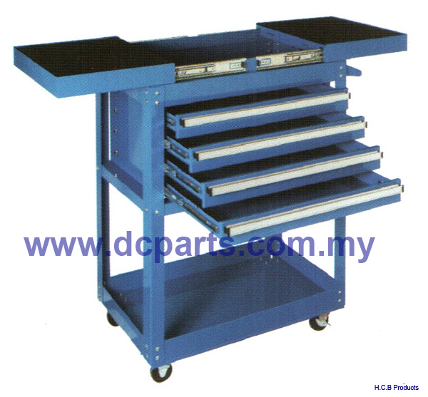 General Truck Repair Tools TWO DIRECTIONS SLIDE ROLL CART 4 DRAWERS A2194